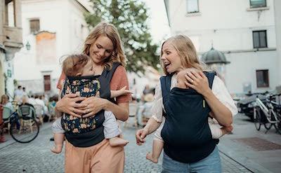 Fular Boba Clásico 4Gs - Portabebés Espalda o delantero para bebés