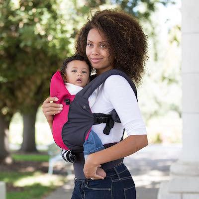 All Seasons - Portabebés Completo y Ajustable (6 en 1) para Recién Nacidos y Bebés - Gris Carbón y Framb