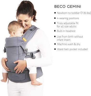 Beco Gemini - Cool Black - Portabebés Simple y Estilizado Ajustable