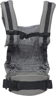 Mochila portabebé original - gris vichy Color-Steel Plaid
