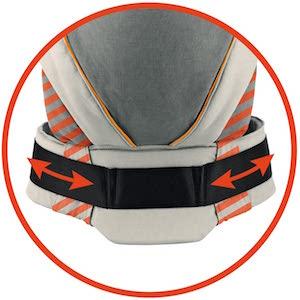 manduca XT Mochila Portabebe > Cotton grey:orange < Porta Bebé Ergonómica, Asiento Regulable