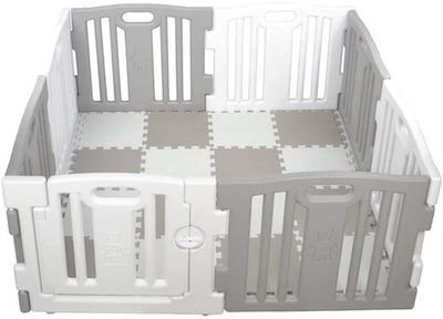 Parque de Bebe XL 8 Piezas Star Ibaby Play Twin: